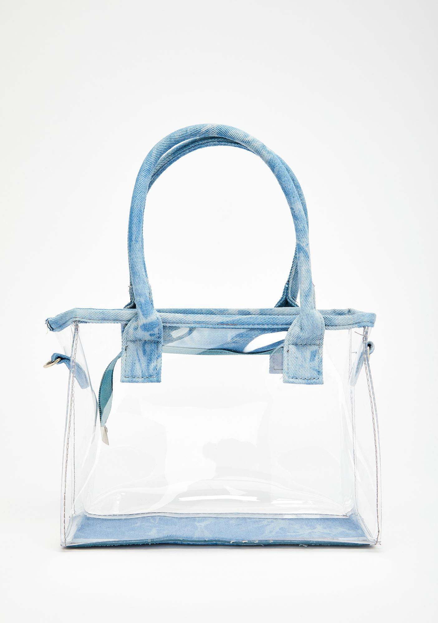 3eecd61a5497 Clear The Way Denim Trim Bag