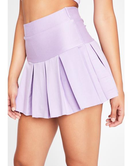 Lavender Wicked Scholar Pleated Mini Skirt
