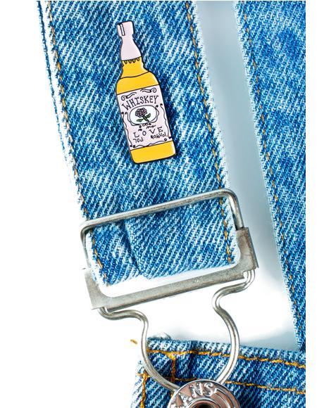 Whiskey Bottle Pin