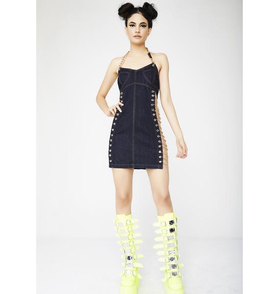 Kiki Riki Cardi Chain Denim Dress