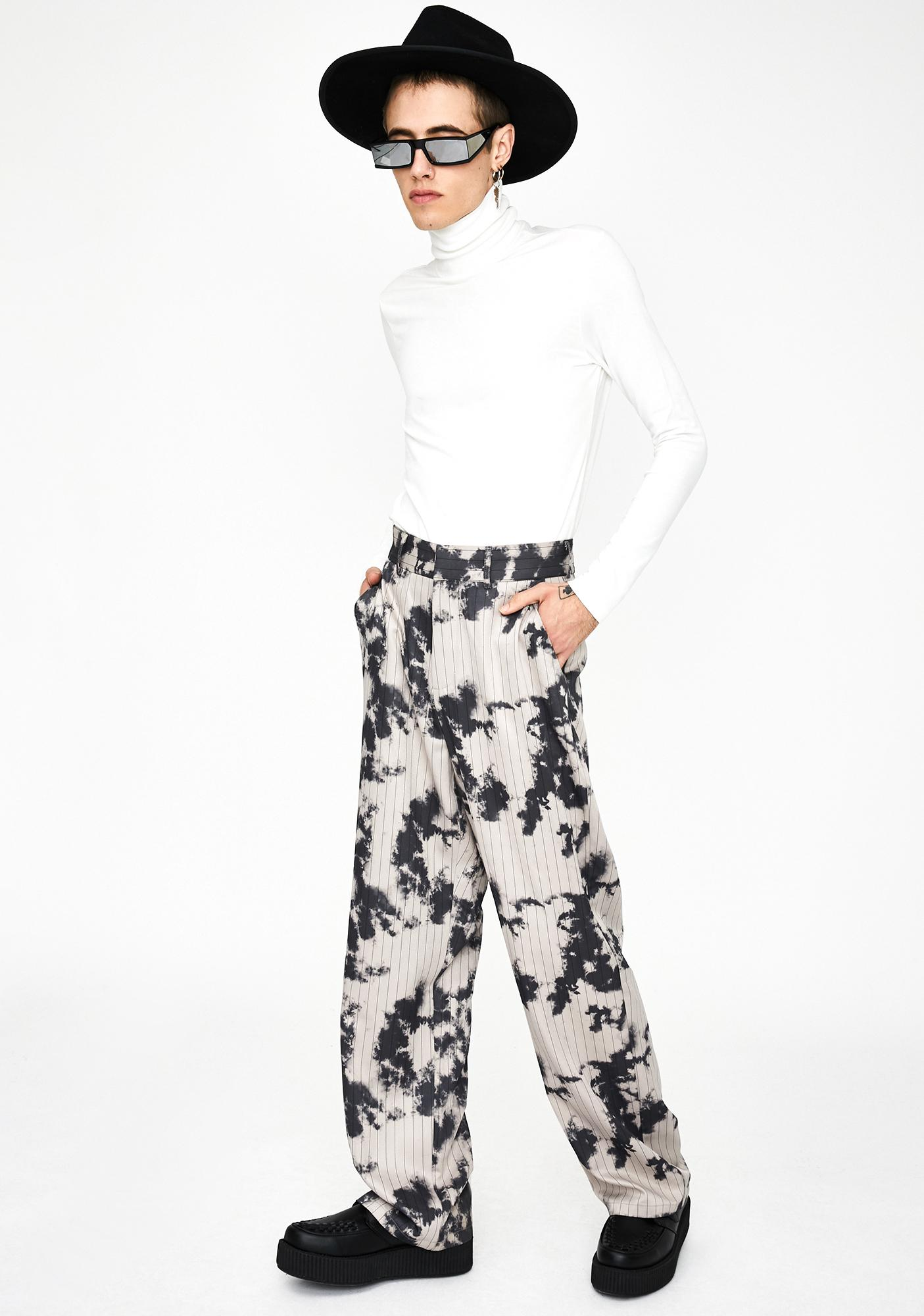 Jaded London Bleach Pinstripe Relaxed Trousers