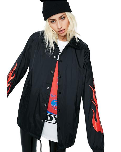 Flame Forever Coach Jacket