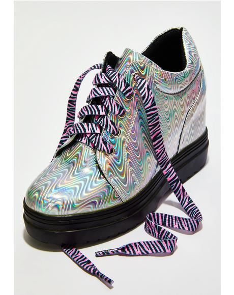 Wild Child Zebra Shoelaces
