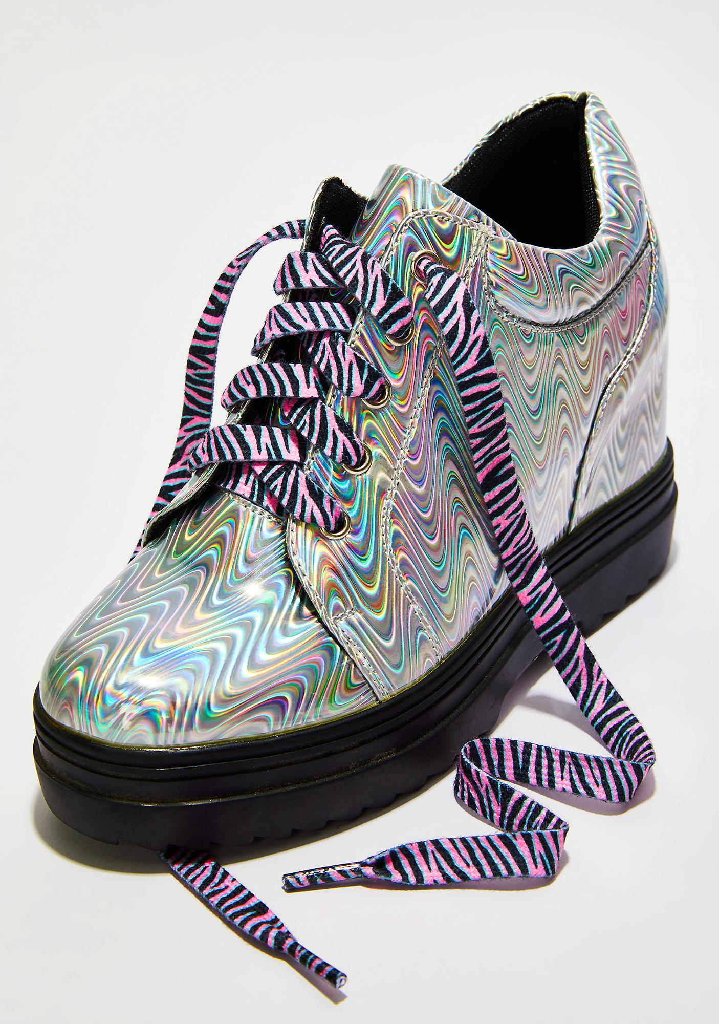 Wild Child Zebra Shoelaces