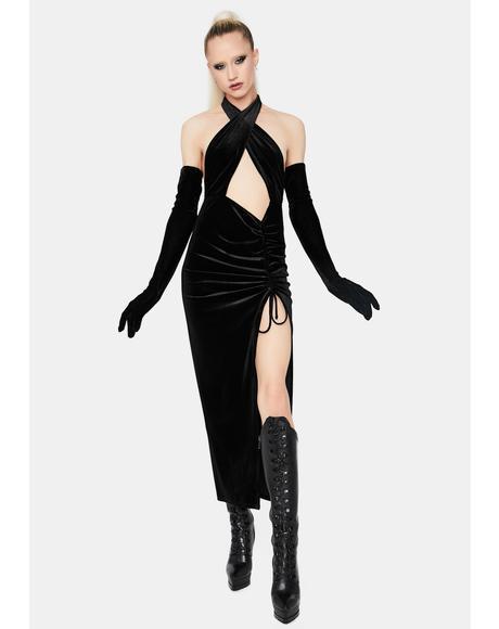 Music Of The Moment Velvet Maxi Dress