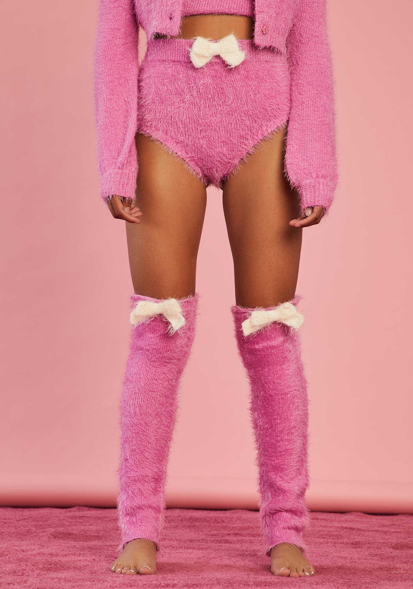 Sugar Thrillz Serenity Calls Fuzzy Shorts And Leg Warmers