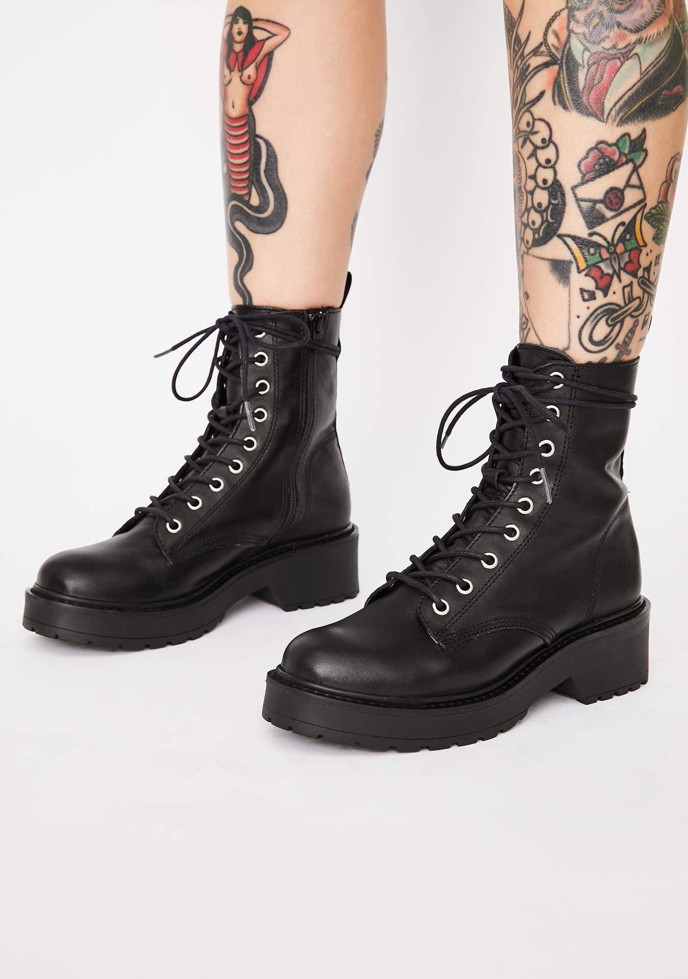 Steve Madden Tornado Leather Ankle Boots