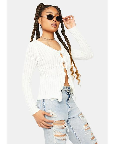 Turning Minds Open Front Crop Top