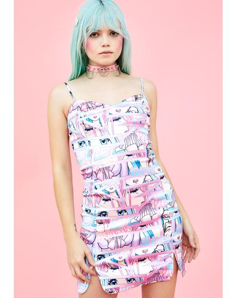 Comic Scene Cutie Mini Dress