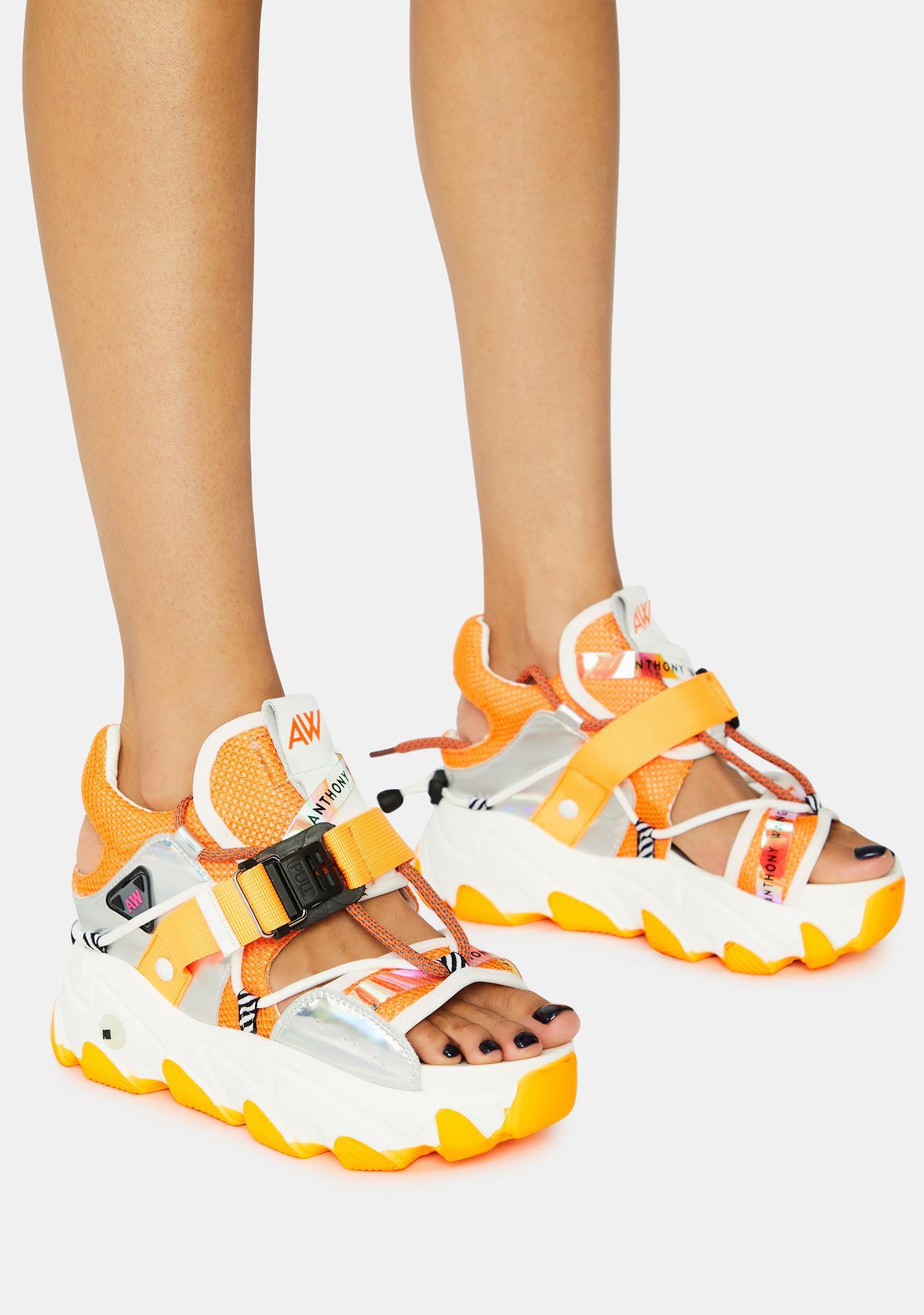 Anthony Wang Orange Dragon Fruit Sandals