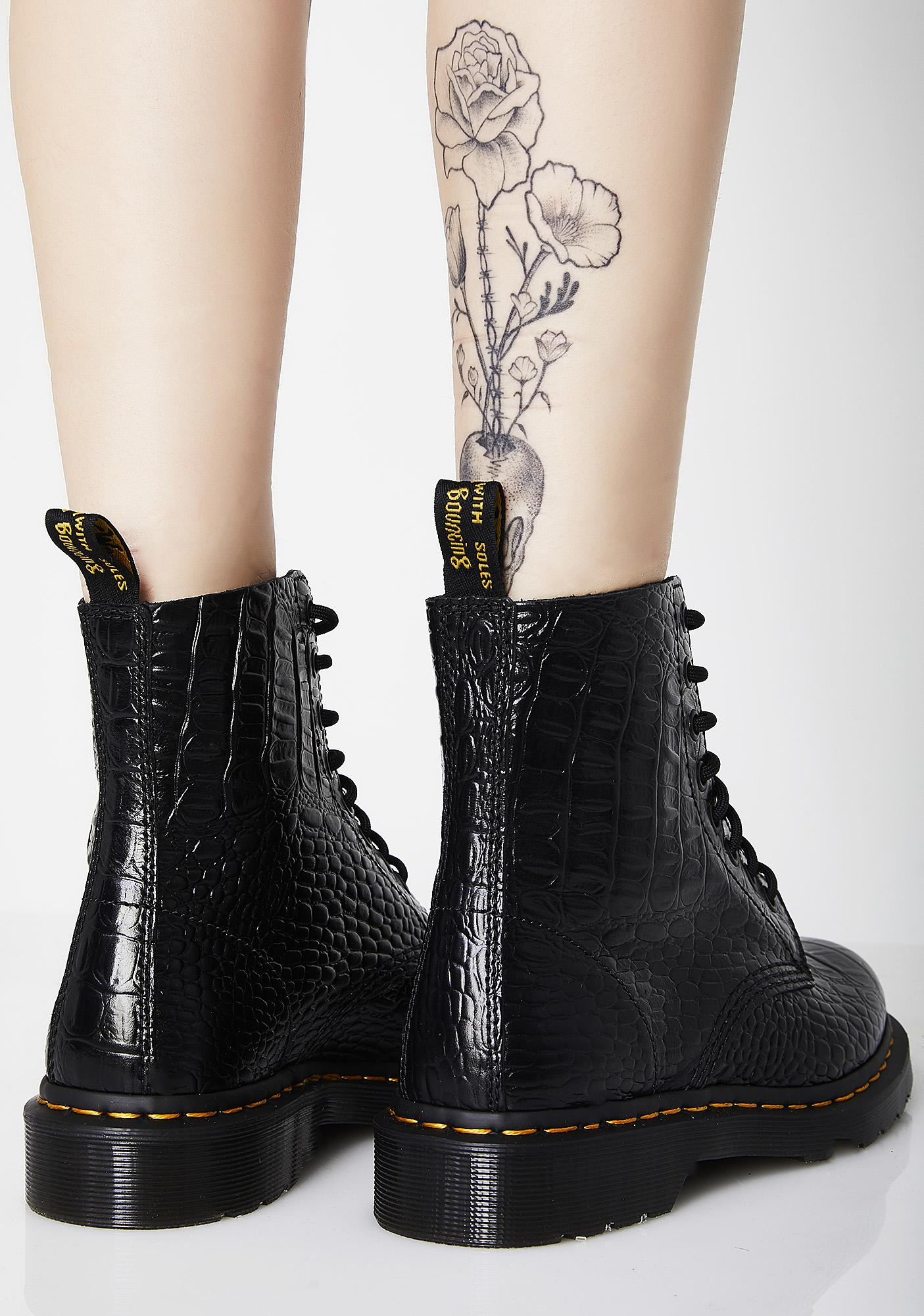 0841f231456b51 ... Dr. Martens Croc Pascal Boots