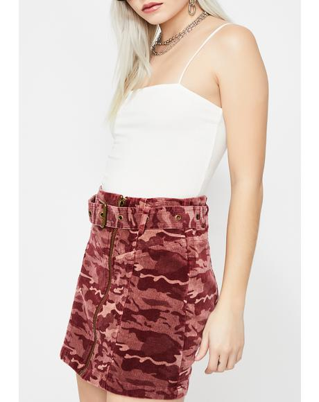 Commander Cutie Camo Skirt