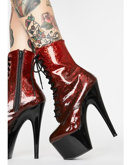 Hellish Player's Club Adore Platform Heels