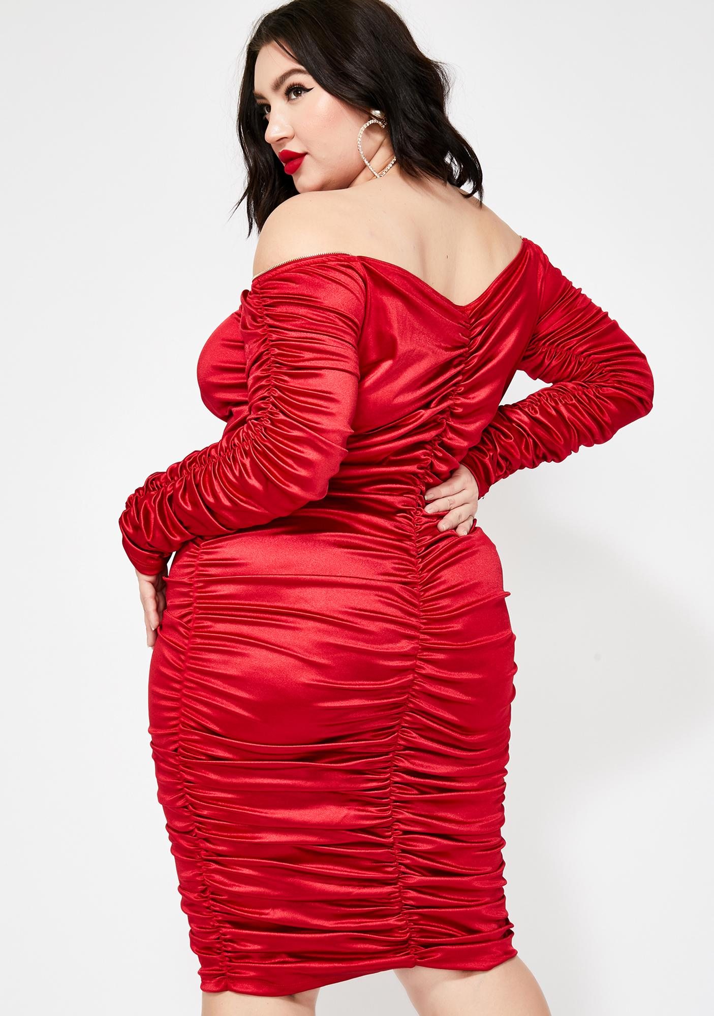 Spicy Forever Goalz Satin Dress