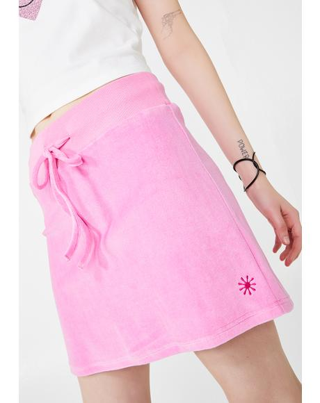 Bratty Behavior Velour Skirt