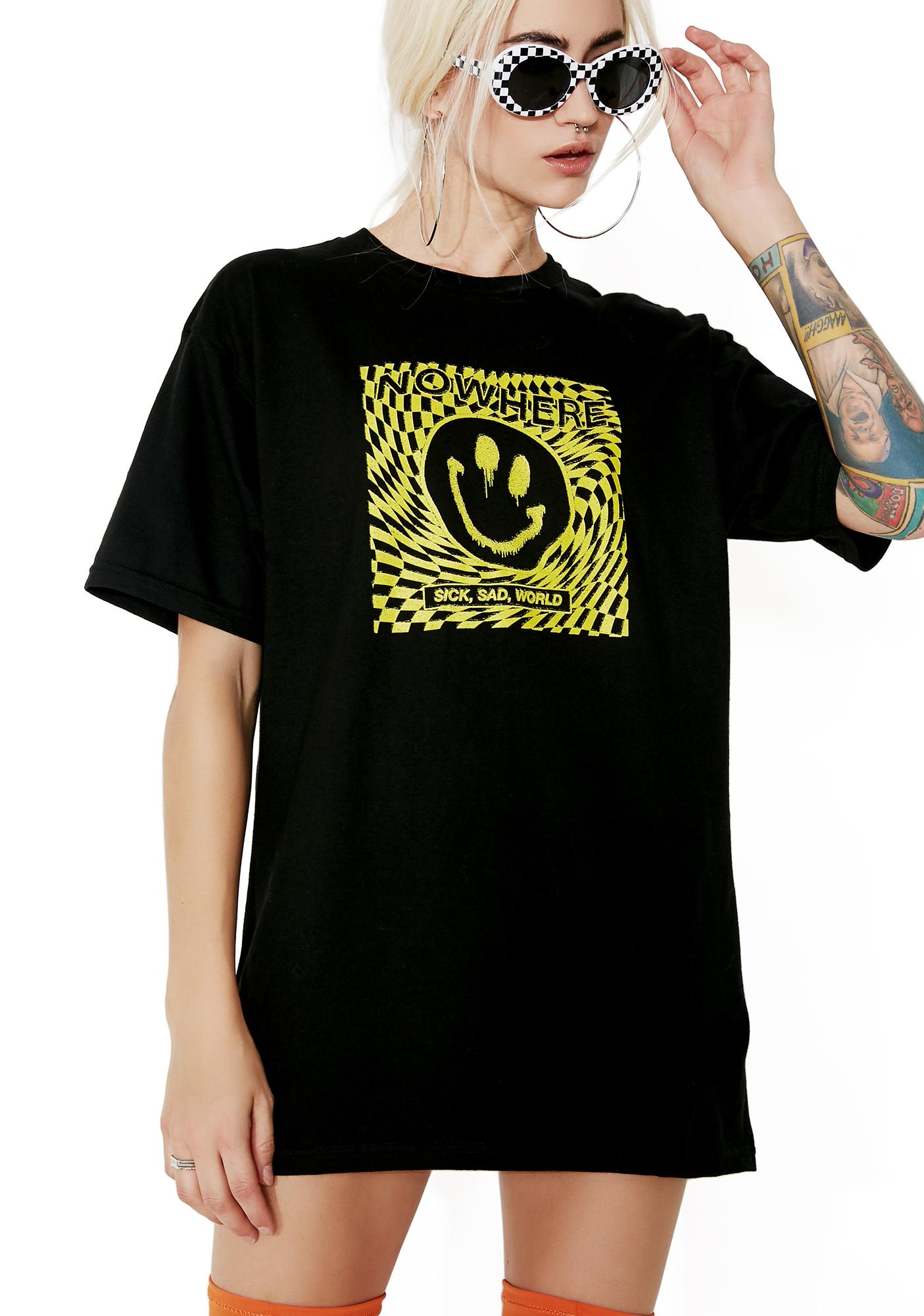 NO WH3R3 Sick And Sad Tee
