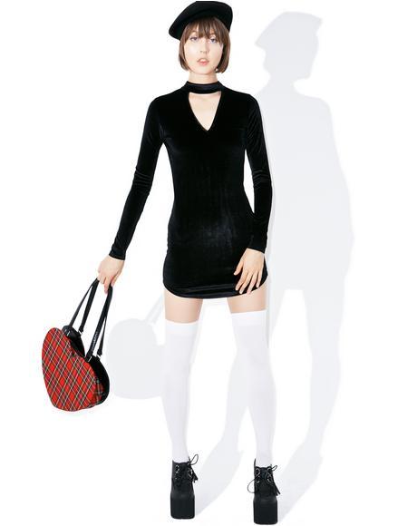 Bijou Velvet Bodycon Dress