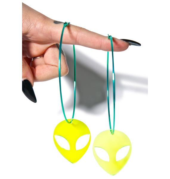 Suzywan Deluxe Alien Hoop Earrings