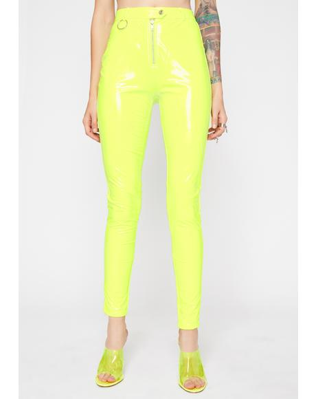 Bee Stay Pampered Vinyl Pants