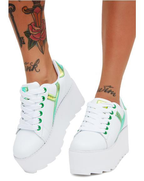 Kermit Lala Strype Platform Sneakers