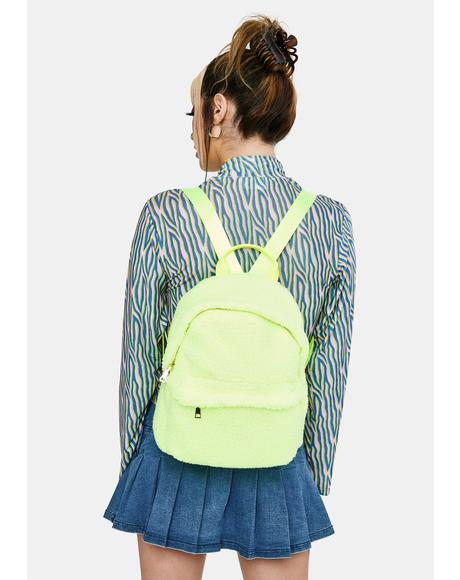 Neon Fluff N' Tumble Sherpa Backpack