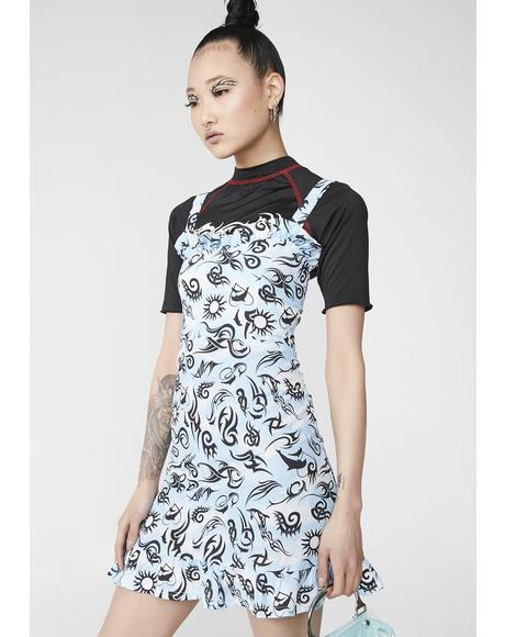 Tribal Tattoo Skater Dress