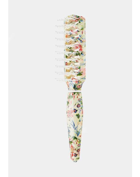 Floral Vent Hair Brush