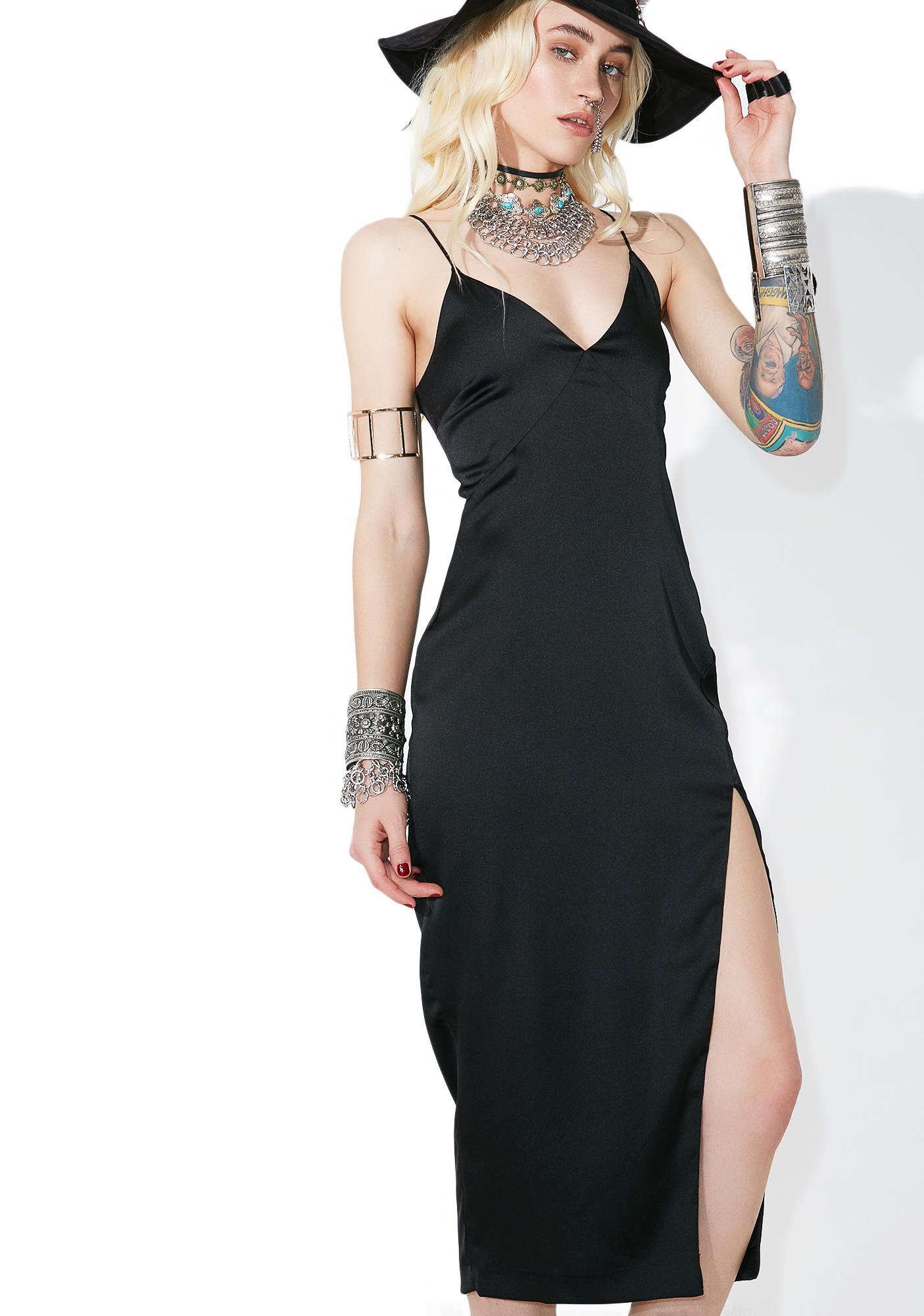Abilene Satin Slip Dress