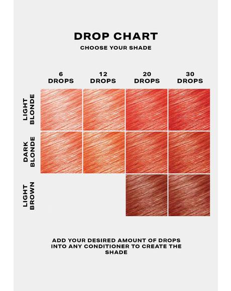 Peach Hair Drop It Dye Kit