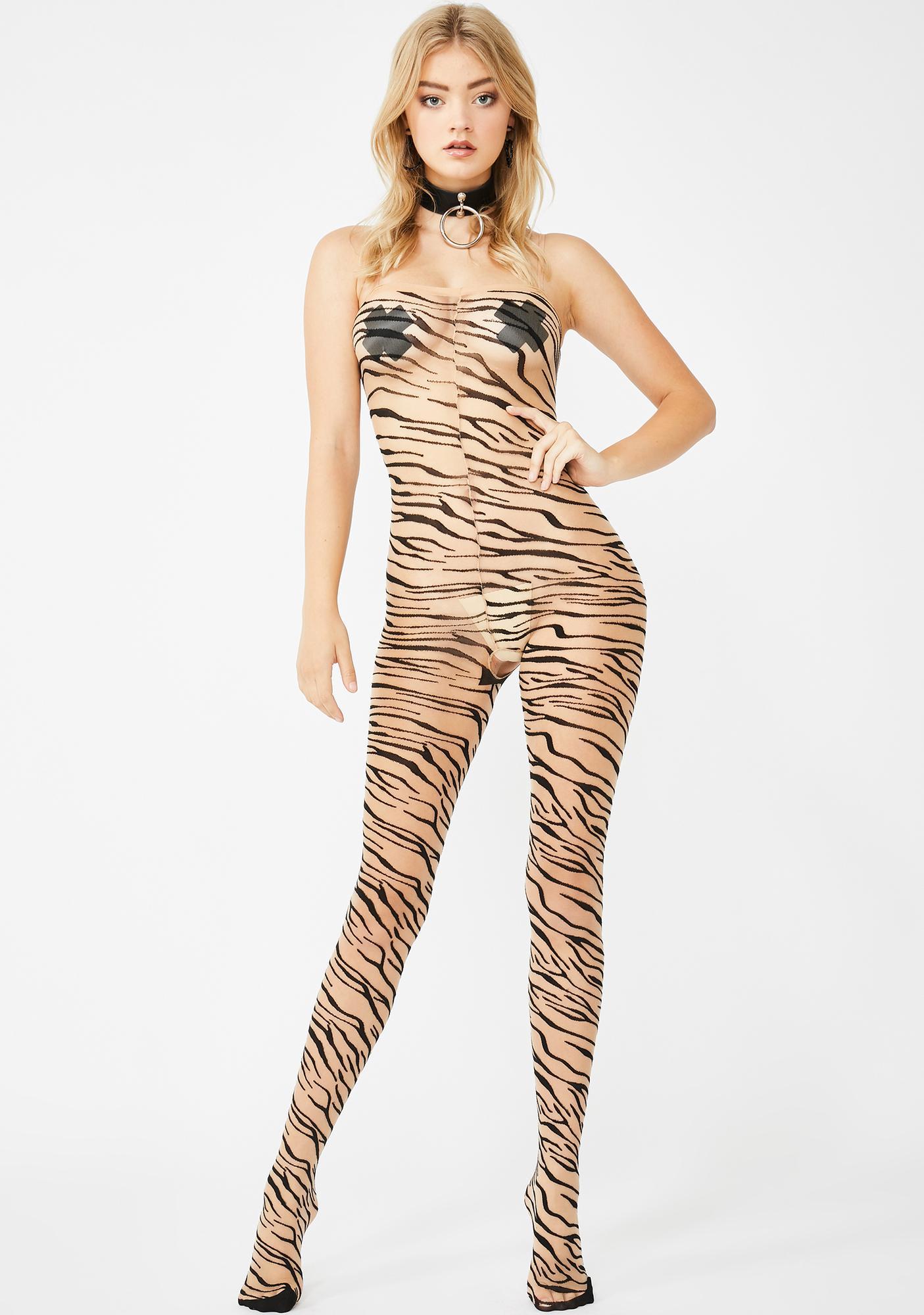 Tigress Temptress Sheer Bodystocking