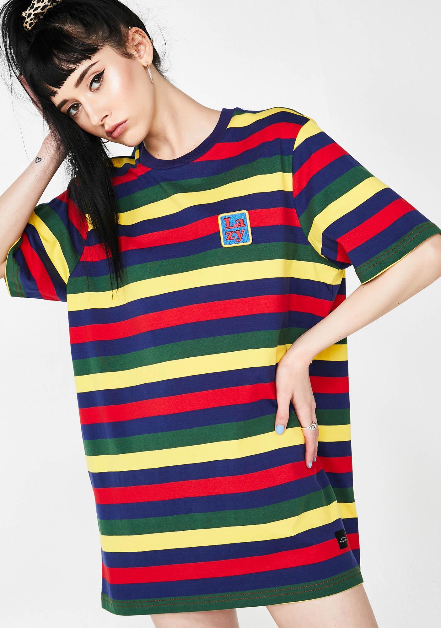 2c4de412398d98 Lazy Oaf Big Stripe Lazy T-Shirt   Dolls Kill