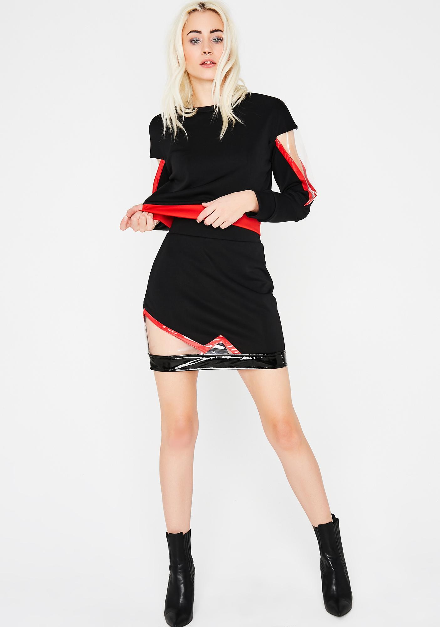 Can't Slip Away Mini Skirt