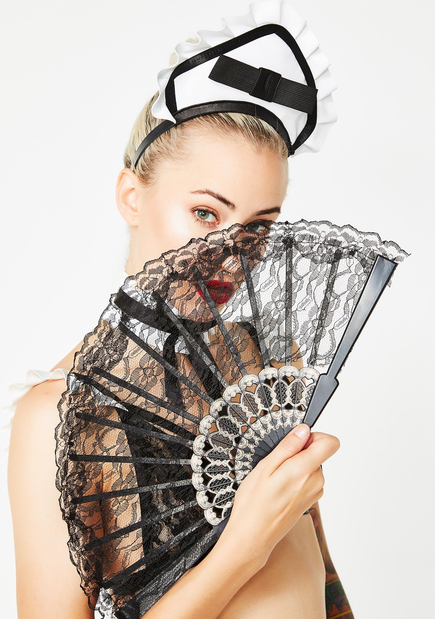 Naughty Nanny Lace Fan