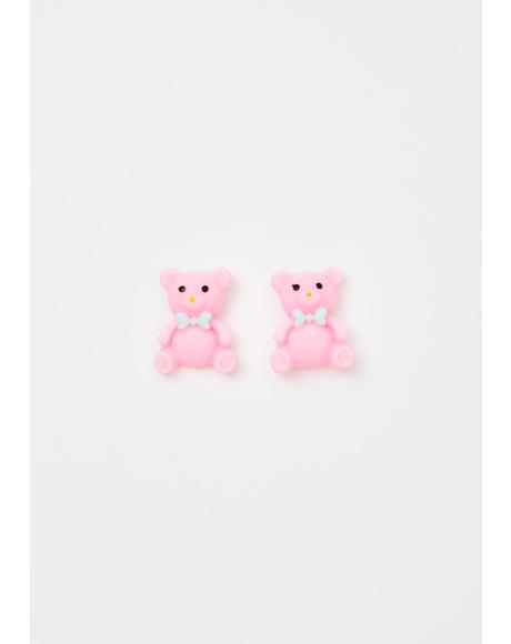 Be My Bear Stud Earrings