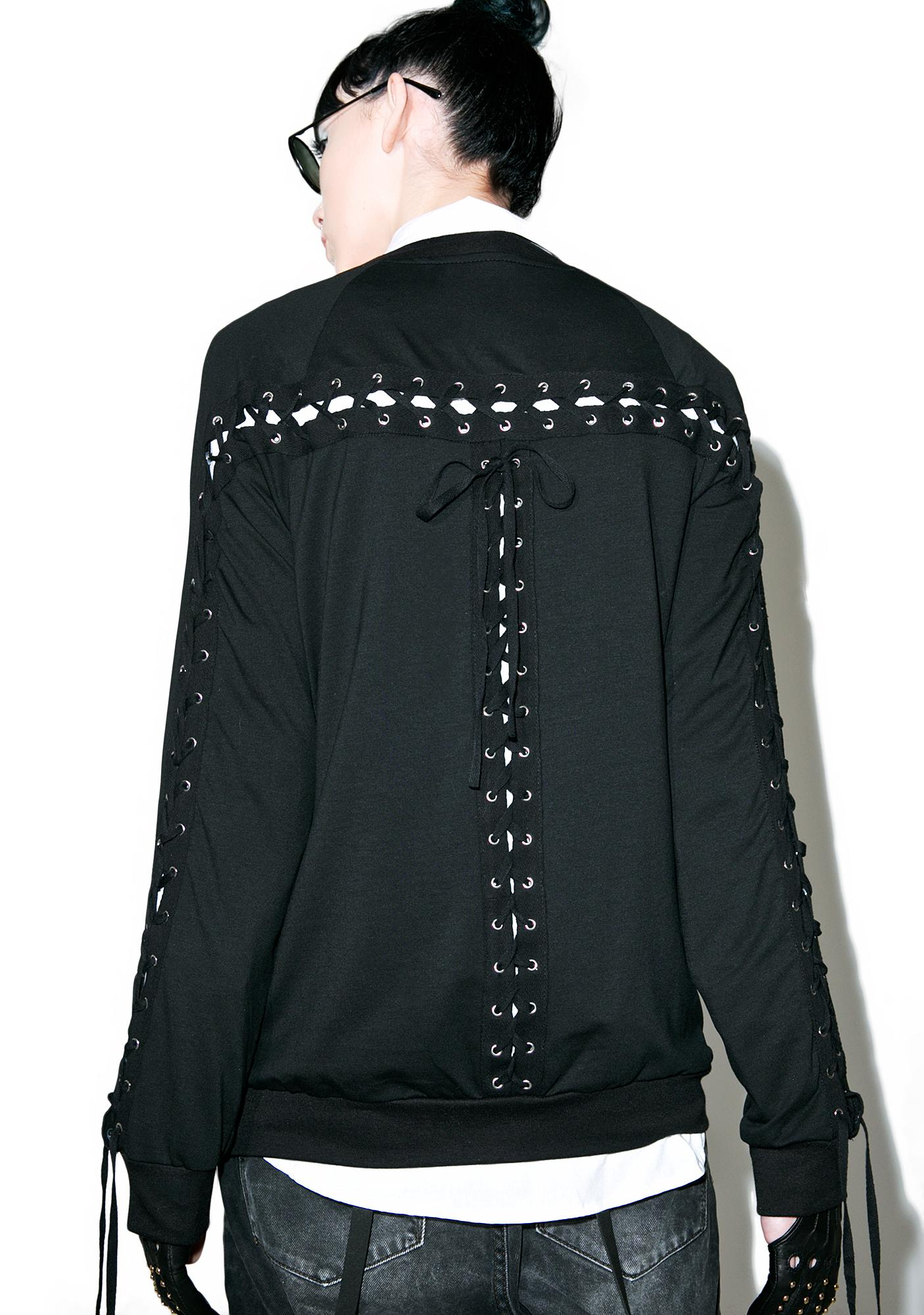 Praise Me Lace-Up Bomber