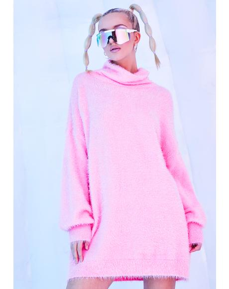 Sugar Coated Dreams Fuzzy Oversized Sweater