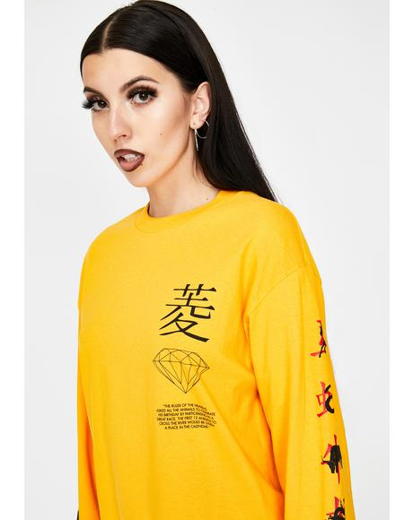 Chinese Zodiac Long Sleeve Graphic Tee