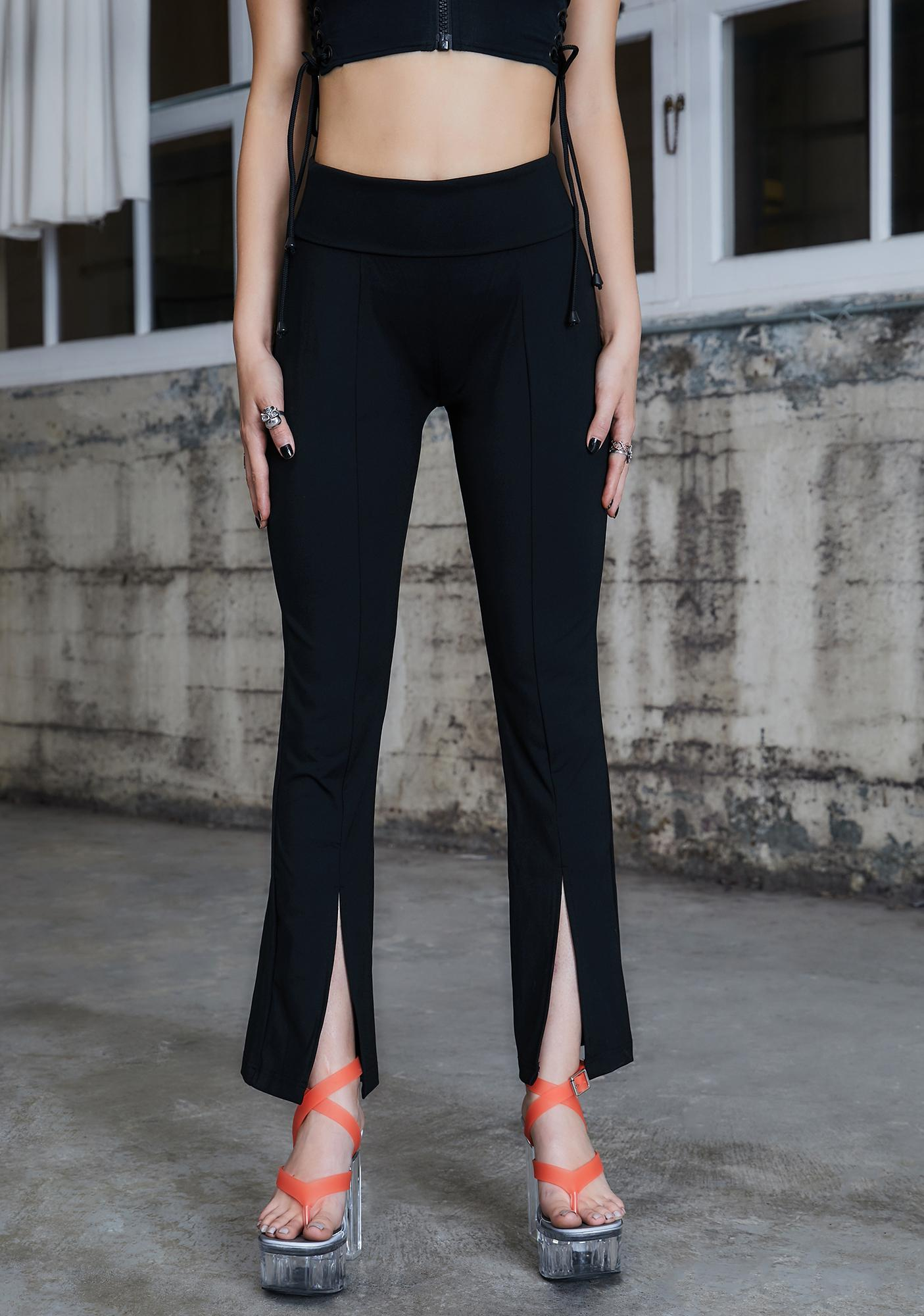 DARKER WAVS Kickdrum Flared Split Leggings
