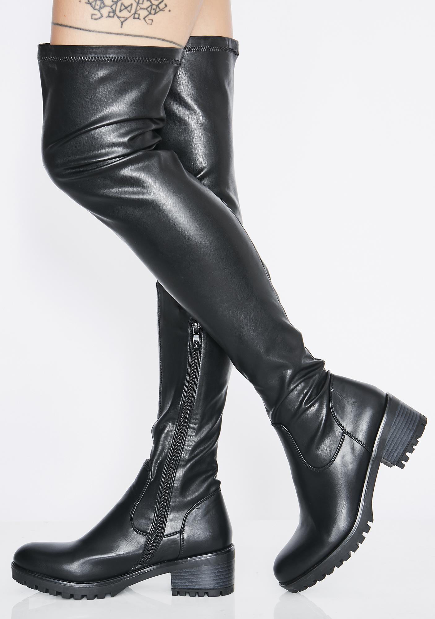 AZALEA WANG Eureva Over The Knee Boots
