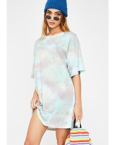 Pastel Tie Dye Sunny Kiss Dress