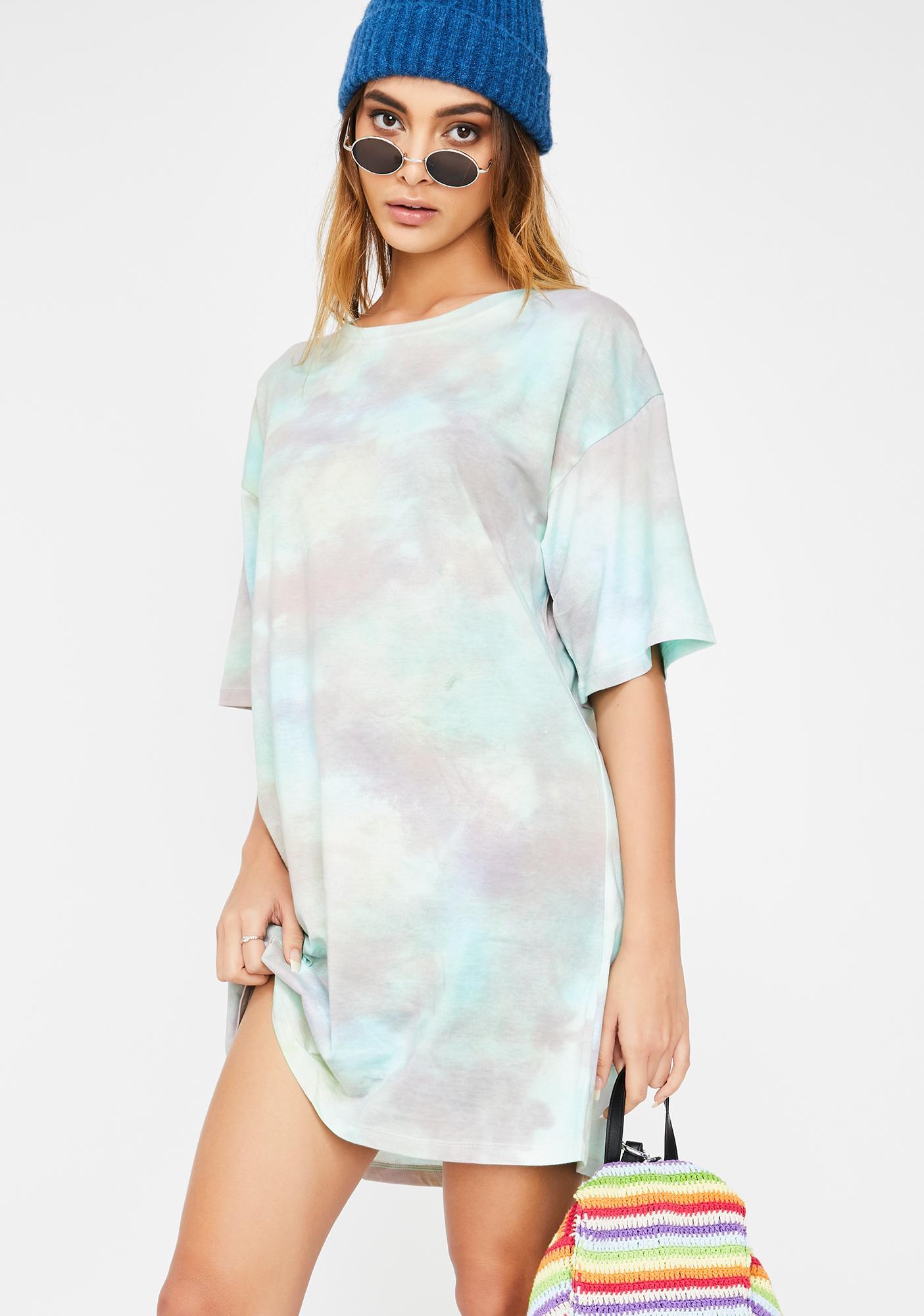 Motel Pastel Tie Dye Sunny Kiss Dress