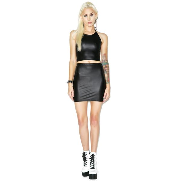 Motel Liquid Ink Kimmy Skirt