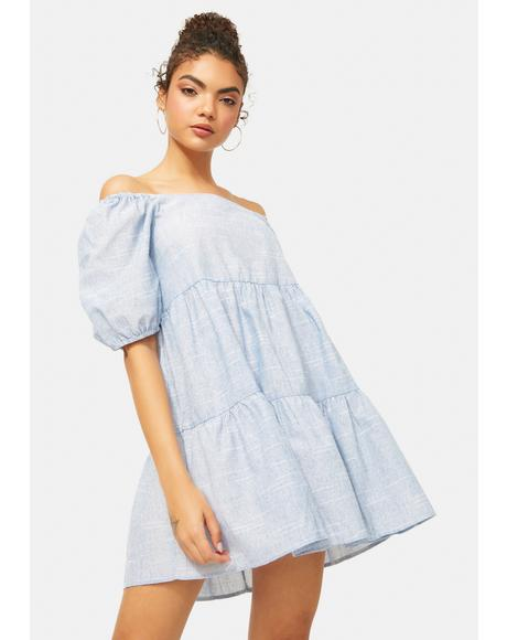 Dreamy Girl Puff Sleeve Dress