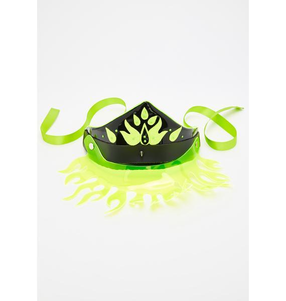 Headspace Headdresses Neon Fiyah Headpiece