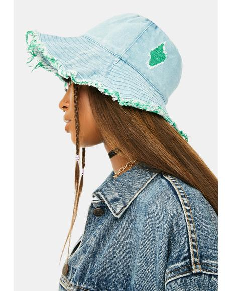 Hidden Identity Denim Bucket Hat