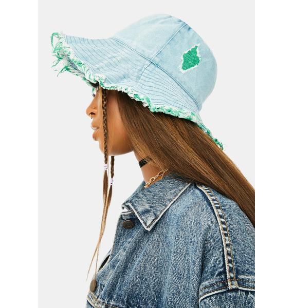 Hidden Identity Denim Bucket Hat