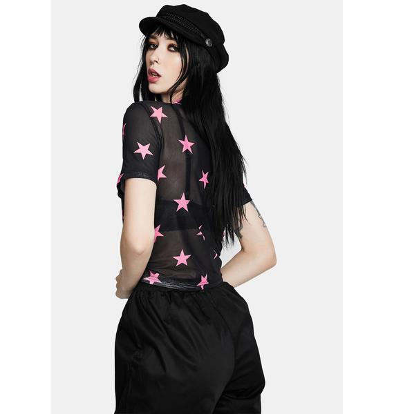 Black Friday Starry Eyed Mesh Top