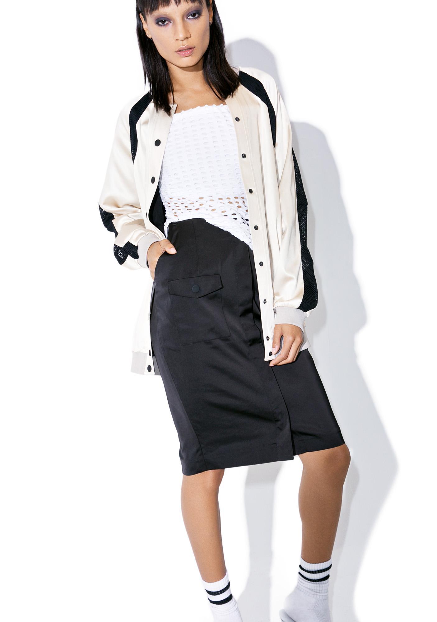 Kendall + Kylie Pocket Midi Skirt