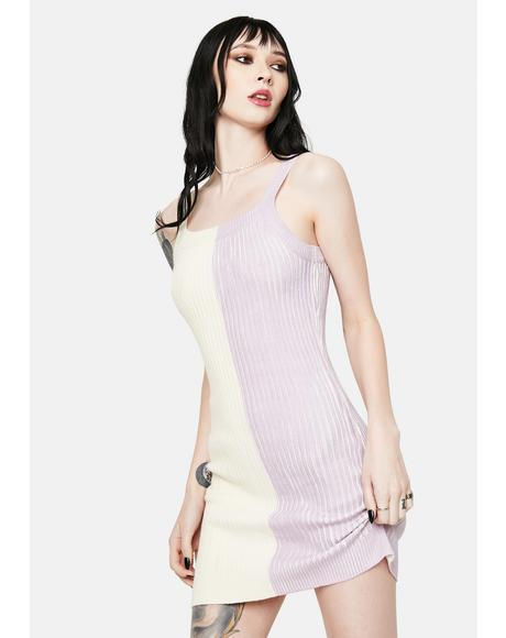 The Basics Colorblock Sweater Mini Dress