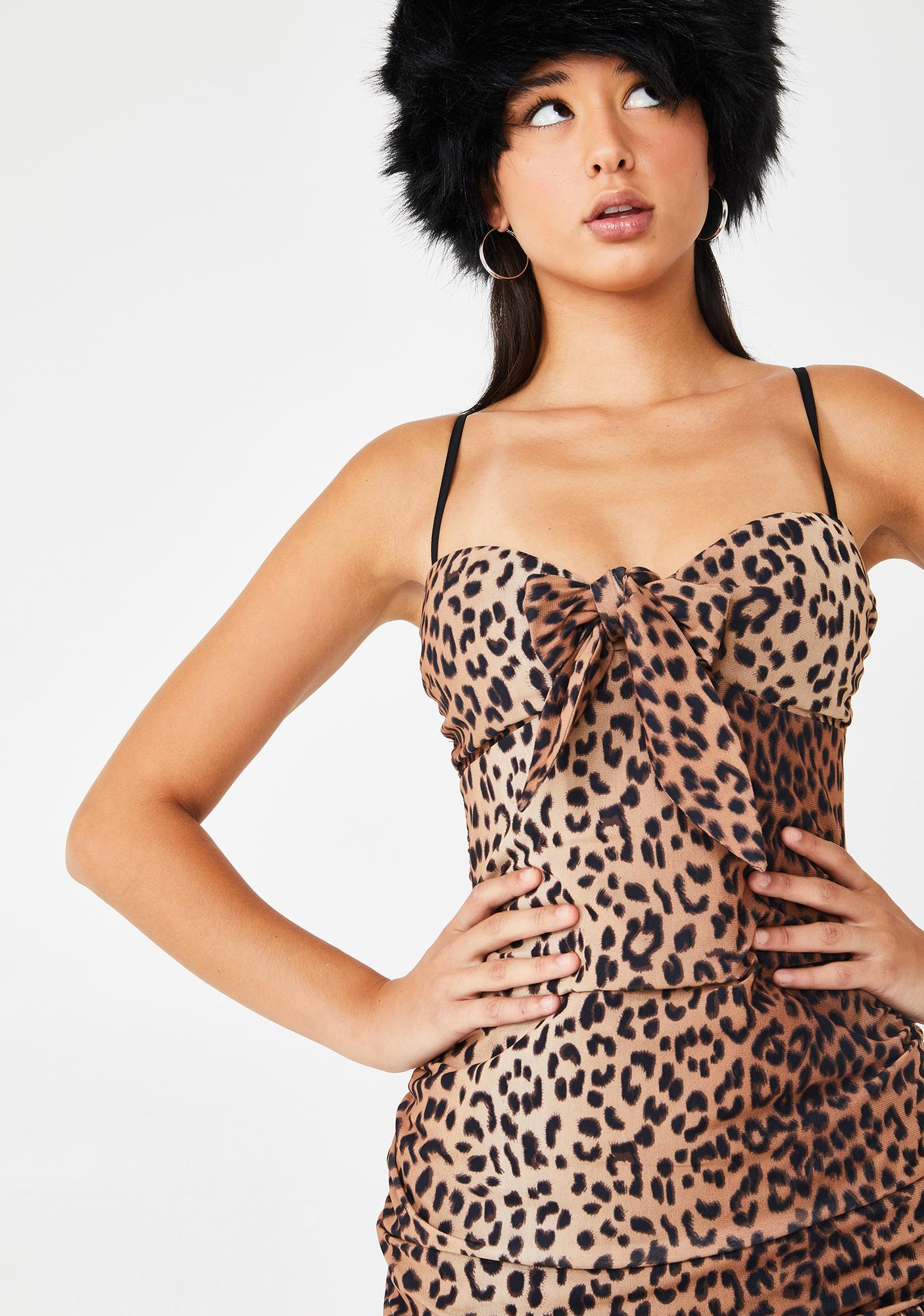 Tiger Mist Leopard Millie Ruched Dress